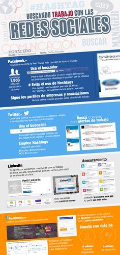 Buscar trabajo con Redes Sociales #infografia
