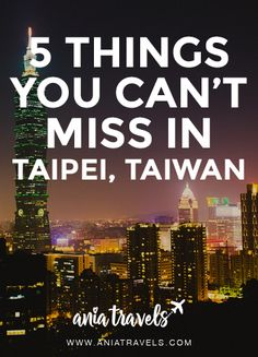 Figuring out what to see in Taipei can be difficult, here are my top 5 things you should do in if you have more than a weekend.