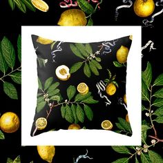 20% off on all home decor like this #Fifikoussout LEMON TREE pillow on my #society6 ✨