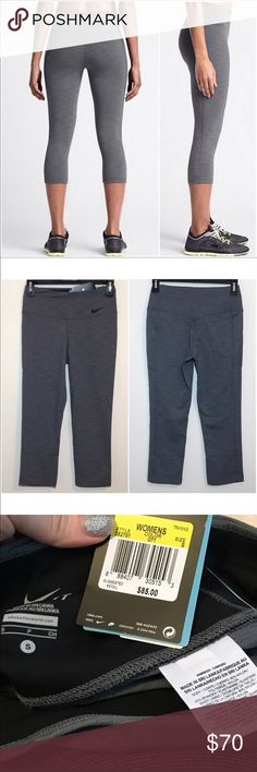 "$53 bundled‼️Nike DriFit Legendary tight Capris Sm Brand new with tags!  Legendary Capris. 20"" inseam. Heather grey color. Nike Pants Leggings"