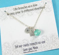 Personalized Necklace Family Tree Personalized by #Kikiburrabeads on #etsy#sterlingsilver#handmade#personalized#mothersnecklace#giftformom#gifts#giftidea www.kikiburrabeads.etsy.com @kikiburrabeads