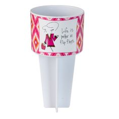 Wholesale beach Buddy cup holder sticks directly into sand hold drink snack cel