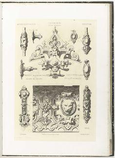 Ornamenten van het kasteel van Ry, Charles Claesen, ca. 1866 - ca. 1900