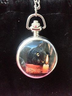 Witching Hour Mini Pocket Watch Pendant by Lisa Parker - The Mystic Realm www.mysticrealm.net