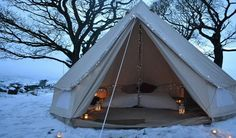 snow camping in style