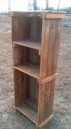 diy pallet bookshelves - Google Search