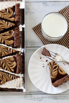 chocolate peanut butter tart by annie's eats