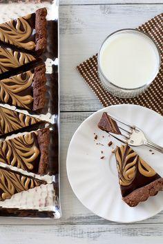 chocolate peanut butter tart by annieseats, via Flickr