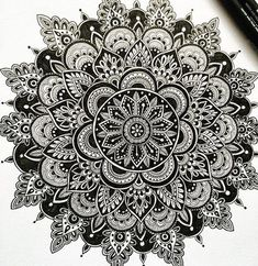 Mandala by Thanks so much for xxx - Mandala Design, Mandala Pattern, Zentangle Patterns, Zentangles, Mandalas Painting, Mandala Artwork, Mandalas Drawing, Mandala Doodle, Doodle Art