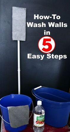 The Right Way to Wash Walls in 5 Easy Steps