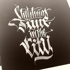 """""""'Christmas Time in the City' #calligraphy #calligraphymasters #calligraffiti #handmade #handwriting #freehand #fraktur #lefthand #lettering #typism…"""""""