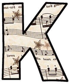 Vintage Sheet Music: Alphabet Set to download or print / ArtbyJean