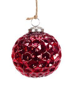 Red Antique Hexagon Ornament