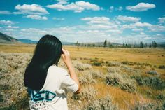 TBT - Me, 13, Yellowstone National Park. (I still sleep in that shirt. ^^) // (c) Jenny Lam // #nature #landscape #travel #nationalparks #sky #clouds #america #photography #photos #summer #light #sun #childhood #animals #wildlife #sightseeing #candid #girl #people #portrait #vacation #trip #hair #binoculars #sunlight #sunshine #field #fields #grass #trees #throwback #throwbackthursday #00s #2000s #2001