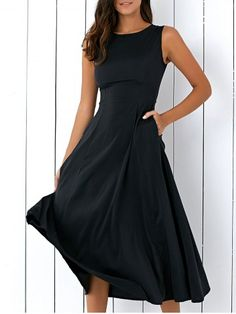 GET $50 NOW | Join RoseGal: Get YOUR $50 NOW!http://www.rosegal.com/casual-dresses/casual-round-neck-sleeveless-loose-1072163.html?seid=8675388rg1072163