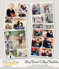 16x20 Story Board Collage Templates for by TiramisuDesign on Etsy, $11.99