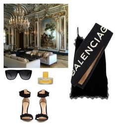 """""""="""" by whosay ❤ liked on Polyvore featuring River Island, Yves Saint Laurent, Balenciaga, Gianvito Rossi and Vilhelm Parfumerie"""