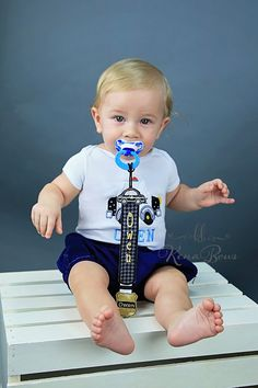 Police Pacifier Clip: Personalized Badge Binky Holder by KenaBows