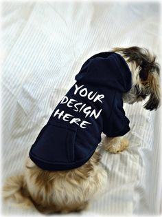 Custom Designed Dog Sweatshirt. Personalized Dog Hoodie with Your Dog's Name. Big Sister. Big Brother Dog Shirts. Custom Screen Printed Dog Apparel by RedemptionDog.