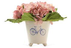 Hydrangea in Dutch Bike Vase, Pink on OneKingsLane.com