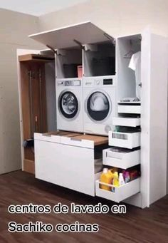 Kitchen Room Design, Home Room Design, Modern Kitchen Design, Home Interior Design, Kitchen Cabinet Layout, Small Room Design, Diy Kitchen, Kitchen Storage, Modern Laundry Rooms