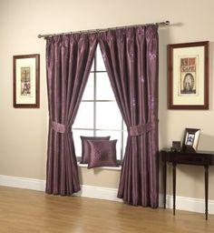 "Starburst Eyelet Tops Fully Lined Curtains (Aubergine, 64"" x 54"" (163cm x 137cm)) by Ahf, http://www.amazon.co.uk/dp/B00BASBTTM/ref=cm_sw_r_pi_dp_GMBtrb0AC3RPB"