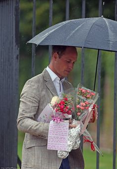 A wellwisher wrote a note to the princes saying: We remember all the good things your mother did representing Britain, her wonderful and heartfelt charity work, her love for her sons and people who were suffering anywhere in the world, which was and is an example to the rest of the Royal Family. We wish you, William, Harry, Kate, George and Charlotte strength and blessings to continue in her footsteps