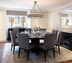 Smart dining (would of painted a grey within the panelling though to add interest!)