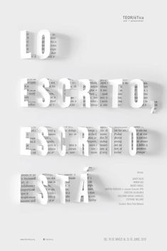 Costa Rica en la Bienal Internacional del Cartel México 2016 Poster for the exhibition Lo Escrito Escrito It is from THEORETICAL, selected for the Biennial of the Poster of Mexico. Graphisches Design, Typo Design, Buch Design, Graphic Design Typography, Layout Design, Japanese Typography, Creative Design, Minimal Graphic Design, Typography Fonts