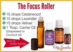 Focus Roller Veviter Essential Oil, Essential Oils For Kids, Cedarwood Essential Oil, Doterra Essential Oils, Adhd Oils, Young Living Focus, Living Oils, Vetiver Oil, School Kids