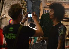 Rot Fai Weekend Market - Bangkok Retro Market - Justin Egli loves Afro Hair - For full blog on Rot Fai Market check here: http://live-less-ordinary.com/bangkok-expat/rot-fai-market-bangkok-retro-market