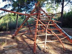 Why buy it if you can build it? Notice the skateboard swing.
