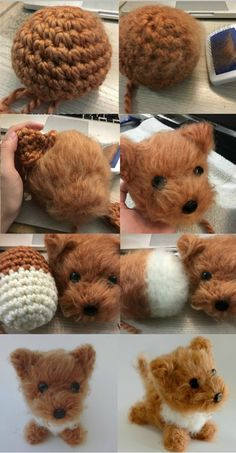 Amigurumi Dog Brush Crochet - Amigurumi Dog Brush Crochet Informations About Ami. - Amigurumi Dog Brush Crochet – Amigurumi Dog Brush Crochet Informations About Amigurumi Dog Brush - Crochet Diy, Crochet Crafts, Crochet Dolls, Yarn Crafts, Dog Crochet, Diy Crafts, Diy Crochet Animals, Yarn Animals, Pom Pom Animals