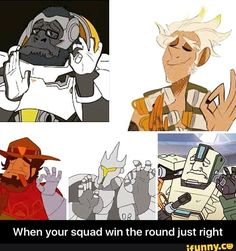 When your squad win the round just right