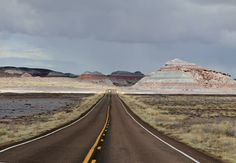 Right in the middle of a storm zone the beautiful colors of Painted Desert - US AZ