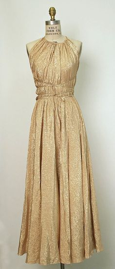 1978 Halston Evening dress Metropolitan Museum of Art, NY See more museum vintage dresses at #Vintage Clothing #Vintage Styles| http://vintagestyles.lemoncoin.org