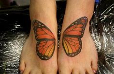 Monarch Butterfly tatoo.  @Kathyrn Berger this is sooo you!