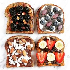 Time to toast it up with these four incredible healthy breakfast toast recipes with unique toppings. The perfect on the go breakfast or snack! Clean Eating Snacks, Healthy Snacks, Healthy Eating, Healthy Recipes, Breakfast Toast, Breakfast Burritos, Breakfast Ideas, Breakfast Healthy, Snacks Saludables