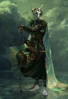 Njord god of the sea by the-Golden-Elf on DeviantArt