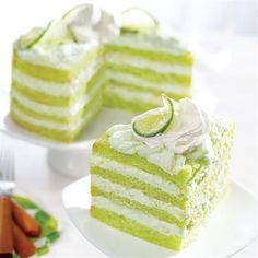 Key Lime Torte with Pineapple-Ricotta Filling from Pillsbury is a light and refreshing green dessert idea for St. Patrick's Day!