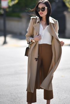 60 Must Have Trends For You This Fall brown monochrome outfit w/ culottes for work Classy Outfits, Fall Outfits, Casual Outfits, Fashion Outfits, Womens Fashion, Fashion Trends, Trendy Fashion, Fashion Ideas, Look Formal