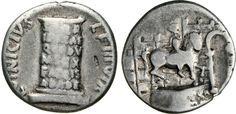 NumisBids: Numismatica Varesi s.a.s. Auction 65, Lot 137 : OTTAVIANO, monetario L. Vinicius L.f. (16 a.C.) Denario. D/ Statua...