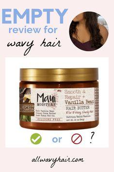 EMPTY Review: Maui Moisture Vanilla Bean Hair Butter (Maui Moisture Hair Mask Review) - all wavy hair