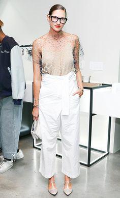 Jenna Lyons mixes feminine with masculine style.