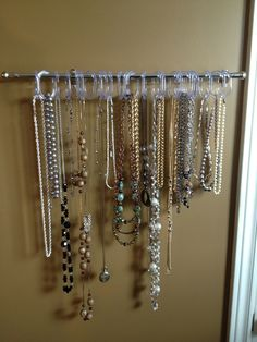 Cool way to hang your jewellery (my moms room)