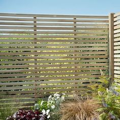 With a guarantee, the Pressure Treated Contemporary Slatted Fence Panel is a modern garden fence or screen. Visit online for great deals on fencing. Trellis Fence Panels, Slatted Fence Panels, Decorative Fence Panels, Wooden Fence Panels, Fence Slats, Diy Fence, Fence Ideas, Patio Ideas, Contemporary Fence Panels
