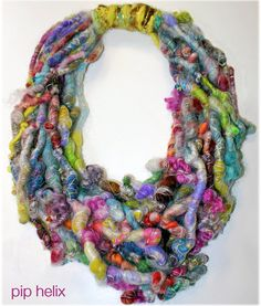 Kandinksy Kaleidoscope Fiber Art Necklace by PipHelix on Etsy looks like dreadlocks Fiber Art Jewelry, Textile Jewelry, Fabric Jewelry, Jewelry Art, Felt Necklace, Fabric Necklace, Fabric Beads, Fabric Art, Textiles
