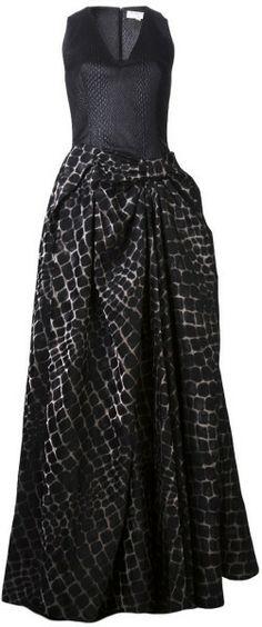 VIKTOR & ROLF Crocodile Skin Texture Dress