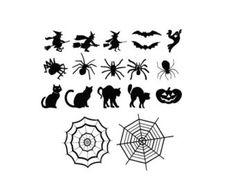 Check out Halloween Sheet of Decals Bats Cats Witches ghosts pumpkins  - Halloween Decorations - For Windows, Door, Pumpkins, Halloween Stickers on amberrockstar