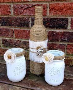 garrafas decoradas vintage - Pesquisa Google